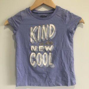 Oshkosh Girls Kind is the New Cool Lilac Tee Sz 7